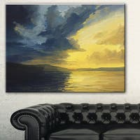 Designart 'Sunset of Light and Shadows' Landscape Painting Canvas Print - Yellow