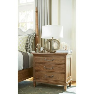 Moderne Muse Nightstand in Bisque Finish