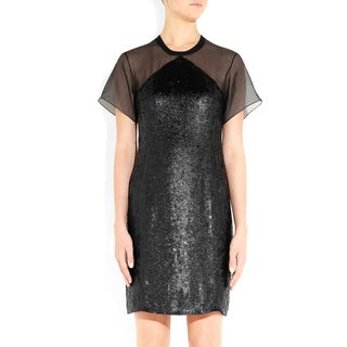 Theory Derell Silk Organza Cocktail Dress