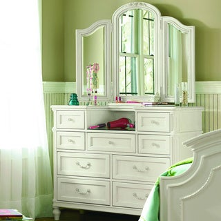 Gabriella Dressing Mirror in Lace Finish - Off White