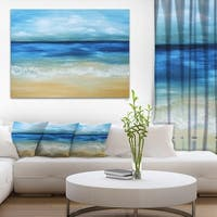 Designart 'Warm Tropical Sea and Beach' Seascape Painting Canvas Print