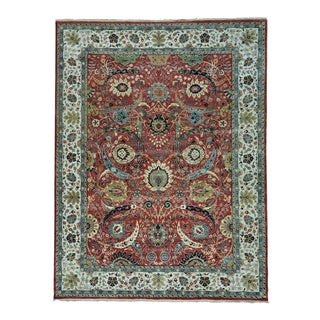 Sickle Leaf 17th Century Design Hand-knotted Oriental Rug (9'2 x 12')