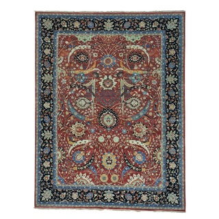 Sickle Leaf 17th Century Design Hand-knotted Oriental Rug (9'3 x 12'1)