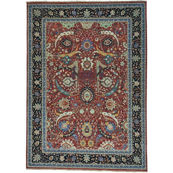 Sickle Leaf 17th Century Design Hand-knotted Rug (10'1 x 14'1)