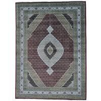 "Tabriz Mahi Wool and Silk Hand-knotted Oriental Rug - 10'1"" x 14'0"""