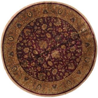 Herat Oriental Indo Hand-knotted Khorasan Round Wool Rug (10' x 10')