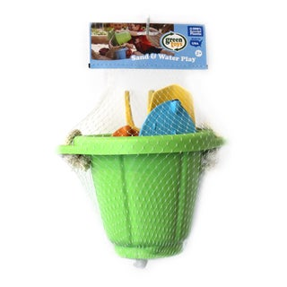 Green Toys Sand and Water Play Bucket with Sport Boats