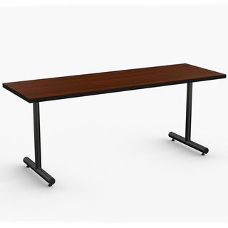 MyOfficeTable 24 x 72-inch Mahogany Training Table with C-legs