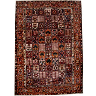 Herat Oriental Persian Hand-knotted 1930s Semi-antique Bakhtiari Wool Rug (11'4 x 16')