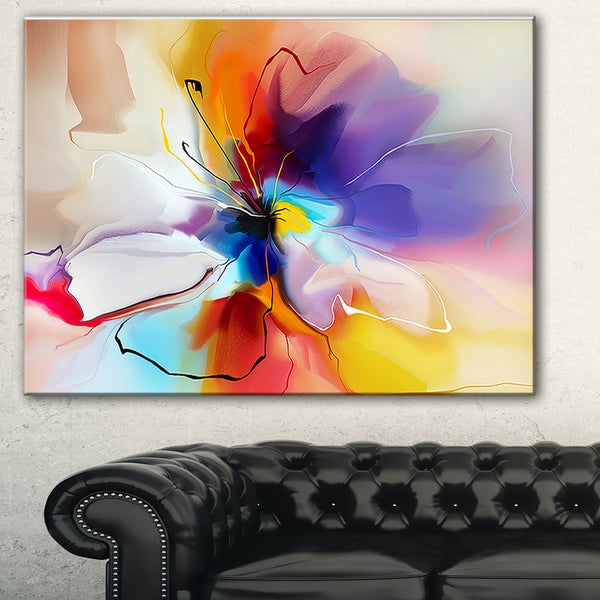 Designart Creative Flower In Multiple Colors Abstract