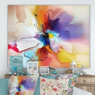 Designart 'Creative Flower in Multiple Colors' Abstract Floral Canvas Print