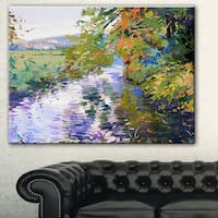 Designart 'Fall in Amazing Colors' Landscape Painting Canvas Print
