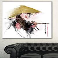 Designart 'Vietnamese Woman' Digital Art Portrait Canvas Print