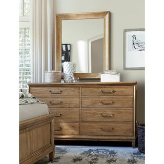 Moderne Muse Mirror in Bisque Finish