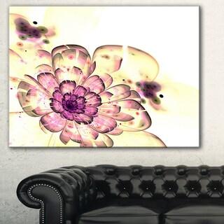 Designart 'Dark Yellow Fractal Floral Art' Digital Art Canvas Print