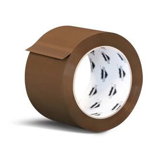 12 Rolls Brown Tan Carton Sealing Packing Tape Shipping 3-inch x 110 Yards 2 Mil