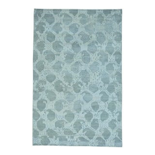 White Wash Oushak Pure Wool Hand-knotted Oriental Rug (5'10 x 9')