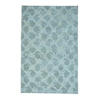 """White Wash Oushak Pure Wool Hand-knotted Oriental Rug - 5'10"""" x 9'0"""""""