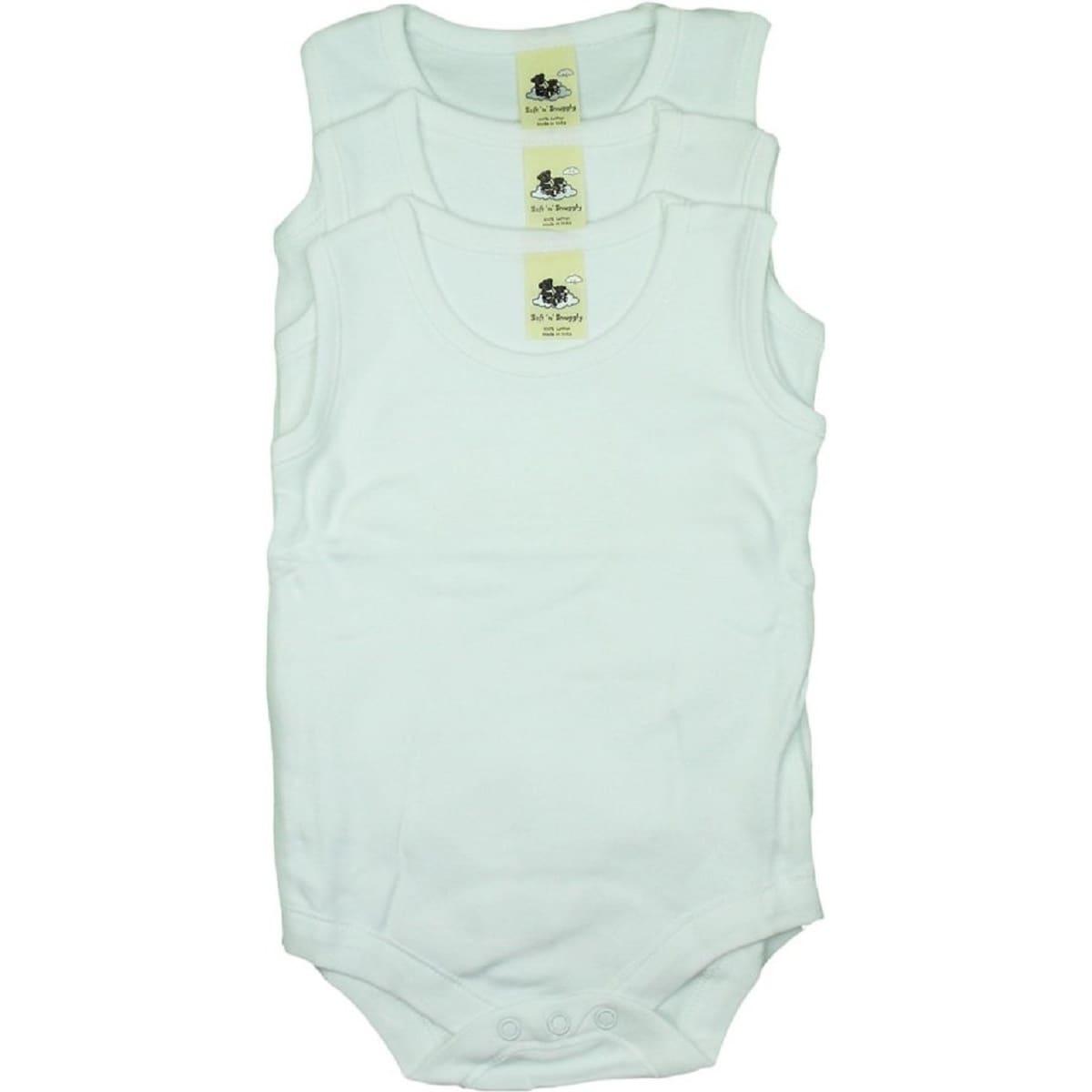 Soft N Snuggly Infant Toddler Bodysuits (Set of 3) (White...