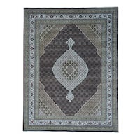 "Tabriz Mahi Wool and Silk Hand-knotted Oriental Rug - 9'2"" x 11'10"""