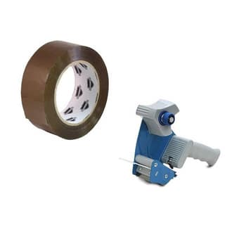 6 Rolls 3-inch x 110 Yards Tan Packing Tape 2 Mil with Free 3-inch Tape Gun Dispenser|https://ak1.ostkcdn.com/images/products/11622857/P18558142.jpg?impolicy=medium