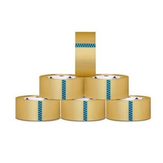 6 Rolls 2-inch x 110 Yards Clear Tape 2.3 Mil Heavy Duty Box Carton Sealing Packing