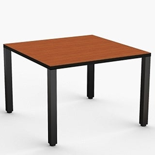 MyOfficeTable 42-inch Square Cherry Table wth Square Corner Post Legs