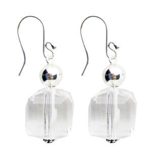 Handmade Diva Clear Bead Dangle Earrings