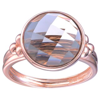 Collette Z Rose Gold Overlay Smokey Cubic Zirconia Ring (2 options available)
