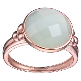 Collette Z Rose Gold Overlay Mint Green Cubic Zirconia Ring