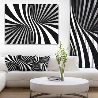 Designart 'Black and White Spiral' Digital Canvas Art Print