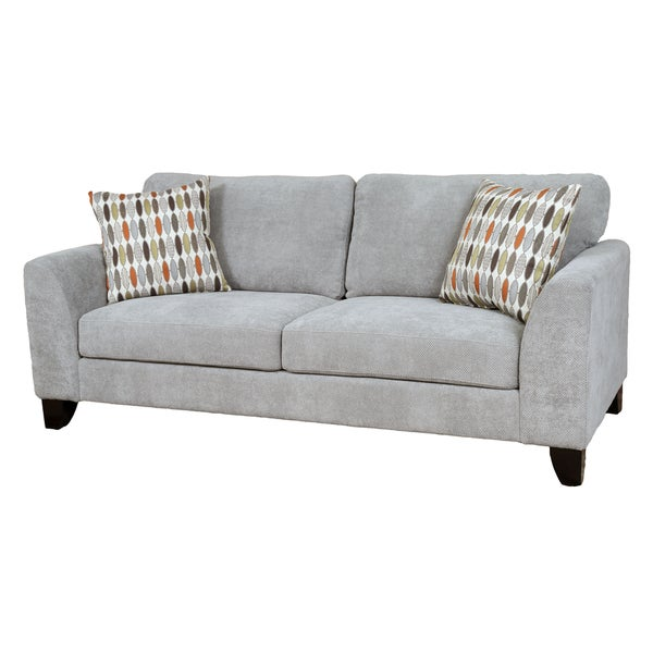 Sofa Pillows Contemporary: Shop Porter Brighton Light Grey Textured Microfiber
