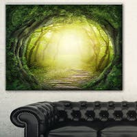 Magic Green Forest' Landscape Photo Canvas Print