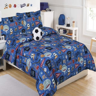 Go Team 5-piece Comforter Set with Decorative Soccer Ball Pillow
