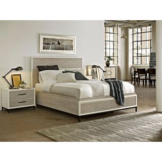 Spencer Parchment Finish Storage Bed