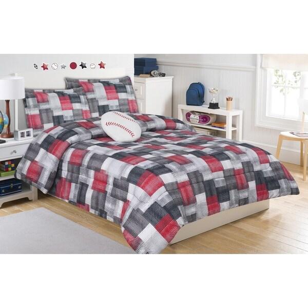 Brandon Plaid Mini Comforter Set with Decorative Pillow