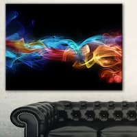 Designart 'Fire in Colors' Abstract Digital Art Canvas Print