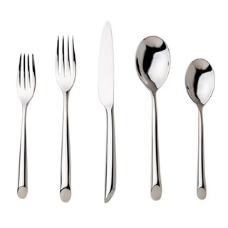 Nambe Frond 5-Piece Stainless Steel Place Setting