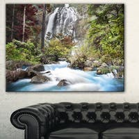 Designart 'Blue Klonglan Waterfall' Photography Canvas Print