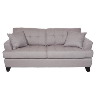 Porter Norwich Putty Taupe Modern Sofa with 2 Throw Pillows