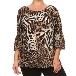 MOA Collection Plus Women's Animal Print Top