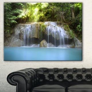 Designart 'Erawan Waterfall' Photography Canvas Art Print