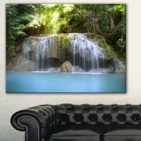 Designart 'Erawan Waterfall' Photography Canvas Art Print