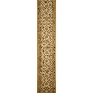 Hand-knotted Agra Design Runner Rug (2' 6 x 19'10)