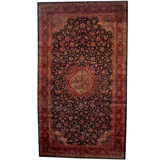 Herat Oriental Persian Hand-knotted 1960s Semi-antique Mahal Wool Rug (10'6 x 18'6)