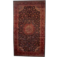 Herat Oriental Persian Hand-knotted 1960s Semi-antique Mahal Wool Rug (10'6 x 18'6) - 10'6 x 18'6