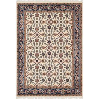 ecarpetgallery Hand-knotted Royal Mahal Beige Wool Rug (4'8 x 6'10)