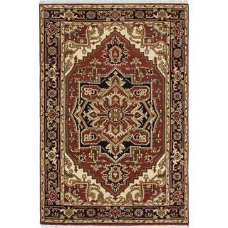 ecarpetgallery Hand-knotted Serapi Heritage Orange Wool Rug (4'0 x 6'0)