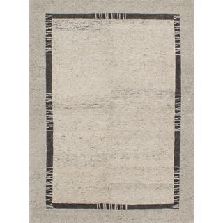 ecarpetgallery Hand-knotted Aurora Grey Wool Rug (5'0 x 6'9)