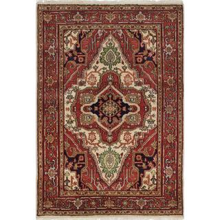 ecarpetgallery Hand-knotted Serapi Heritage Orange Wool Rug (4'2 x 6'0)